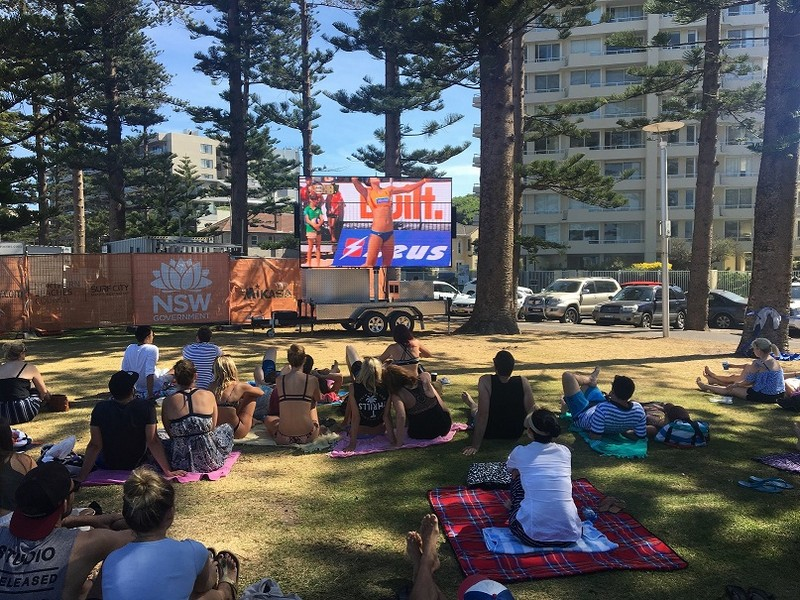 Hire Screen at Manly